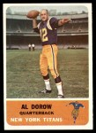 1962 Fleer #57  Al Dorow  Front Thumbnail