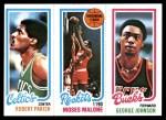 1980 Topps   -  Robert Parish / Moses Malone / George Johnson 97 / 103 / 148 Front Thumbnail