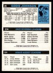 1980 Topps   -  Phil Ford / Adrian Dantley / Eddie Johnson 124 / 234 / 26 Back Thumbnail