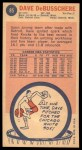 1969 Topps #85  Dave Debusschere  Back Thumbnail