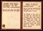 1967 Philadelphia #101  Paul Flatley  Back Thumbnail