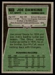 1975 Topps #116  Joe Dawkins  Back Thumbnail