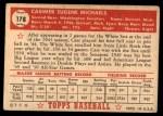 1952 Topps #178 CRM Cass Michaels  Back Thumbnail