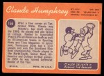 1970 Topps #156  Claude Humphrey  Back Thumbnail