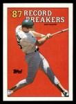 1988 Topps #3 ERR  -  Mark McGwire Record Breaker Front Thumbnail
