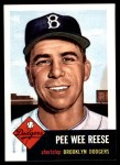 1953 Topps Archives #76  Pee Wee Reese  Front Thumbnail