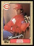 1987 Topps #393  Pete Rose  Front Thumbnail