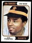 1974 Topps #305  Tito Fuentes  Front Thumbnail