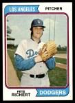 1974 Topps #348  Pete Richert  Front Thumbnail