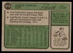 1974 Topps #315  Ron Cey  Back Thumbnail