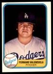 1981 Fleer #140  Fernando Valenzuela  Front Thumbnail