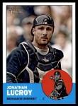 2012 Topps Heritage #126  Jonathan Lucroy  Front Thumbnail