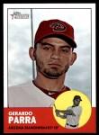 2012 Topps Heritage #449  Gerardo Parra  Front Thumbnail