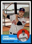 2012 Topps Heritage #170  Lonnie Chisenhall  Front Thumbnail