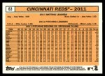 2012 Topps Heritage #63   Reds Team Back Thumbnail