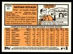 2012 Topps Heritage #411  Nathan Eovaldi  Back Thumbnail