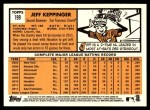 2012 Topps Heritage #199  Jeff Keppinger  Back Thumbnail