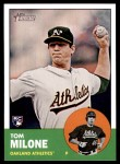2012 Topps Heritage #374  Tom Milone  Front Thumbnail