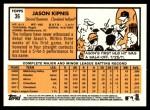2012 Topps Heritage #36  Jason Kipnis  Back Thumbnail