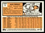 2012 Topps Heritage #55  Alex Presley  Back Thumbnail