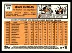 2012 Topps Heritage #410  Jesus Guzman  Back Thumbnail