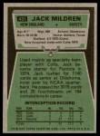 1975 Topps #431  Jack Mildren  Back Thumbnail