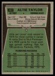 1975 Topps #481  Altie Taylor  Back Thumbnail