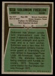 1975 Topps #437  Solomon Freelon  Back Thumbnail