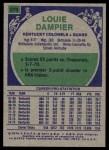 1975 Topps #270  Louie Dampier  Back Thumbnail