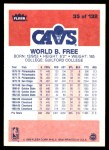 1986 Fleer #35  World B. Free  Back Thumbnail