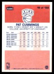 1986 Fleer #19  Pat Cummings  Back Thumbnail