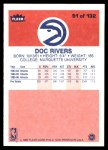 1986 Fleer #91  Doc Rivers  Back Thumbnail