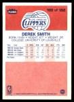 1986 Fleer #103  Derek Smith  Back Thumbnail