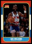 1986 Fleer #124  Gus Williams  Front Thumbnail