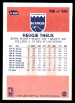 1986 Fleer #108  Reggie Theus  Back Thumbnail
