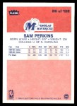 1986 Fleer #86  Sam Perkins  Back Thumbnail