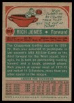 1973 Topps #215  Rich Jones  Back Thumbnail
