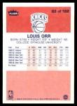 1986 Fleer #83  Louis Orr  Back Thumbnail
