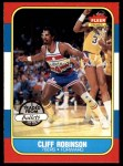 1986 Fleer #93  Cliff Robinson  Front Thumbnail