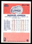 1986 Fleer #54  Marques Johnson  Back Thumbnail