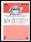 1986 Fleer #99  Byron Scott  Back Thumbnail