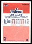 1986 Fleer #67  Jeff Malone  Back Thumbnail