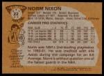 1981 Topps #22  Norm Nixon  Back Thumbnail
