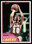 1981 Topps #22  Norm Nixon  Front Thumbnail