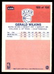 1986 Fleer #122  Gerald Wilkins  Back Thumbnail