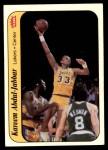 1986 Fleer Sticker #1  Kareem Abdul-Jabbar  Front Thumbnail