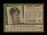 1971 Topps #506  Bobby Knoop  Back Thumbnail