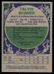1975 Topps #187  Talvin Skinner  Back Thumbnail