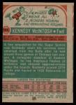 1973 Topps #164  Kennedy McIntosh  Back Thumbnail