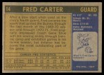 1971 Topps #14  Fred Carter   Back Thumbnail